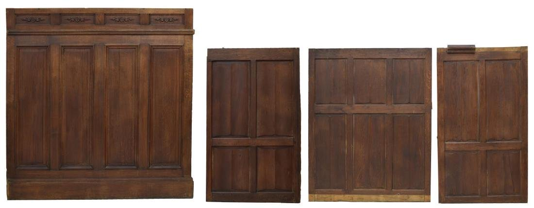 (4) ARCHITECTURAL CARVED WOOD WALL PANELS