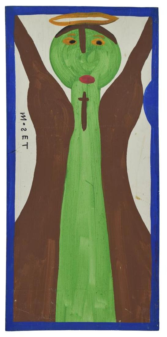 MOSE TOLLIVER (1919-2006) PAINTING ON BOARD, ANGEL