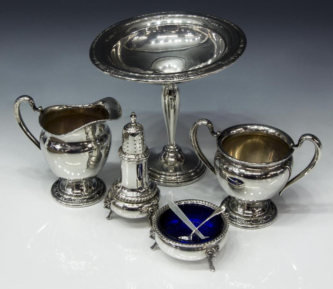 (6) STERLING SILVER TABLEWARE, ELLMORE 'GEORGE II'