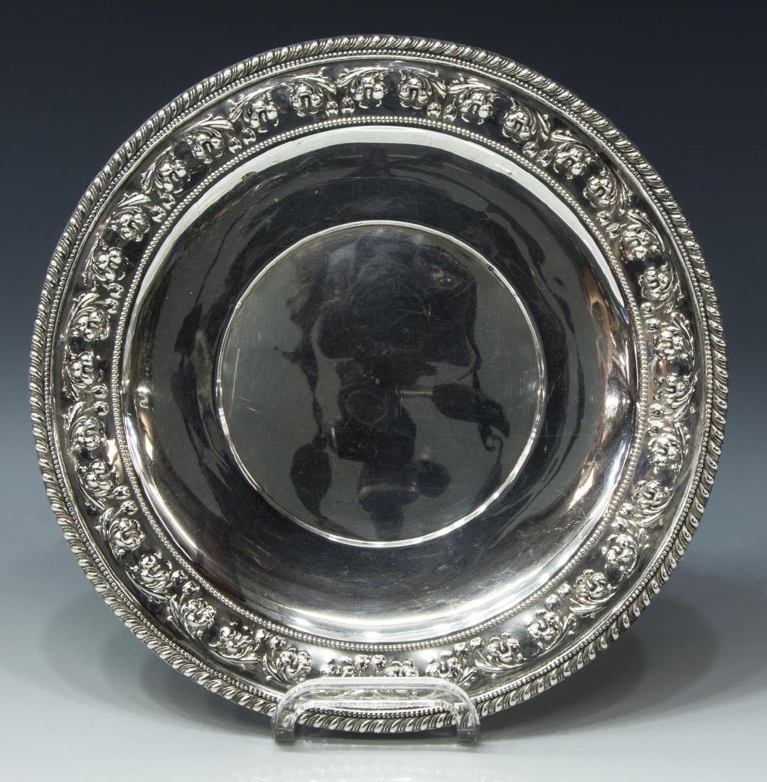 FRANK M. WHITING & CO STERLING SILVER SERVICE TRAY