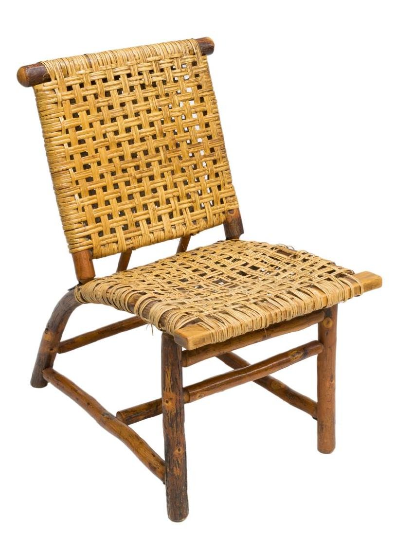 PRIMITIVE RUSH SEAT BENTWOOD CHAIR