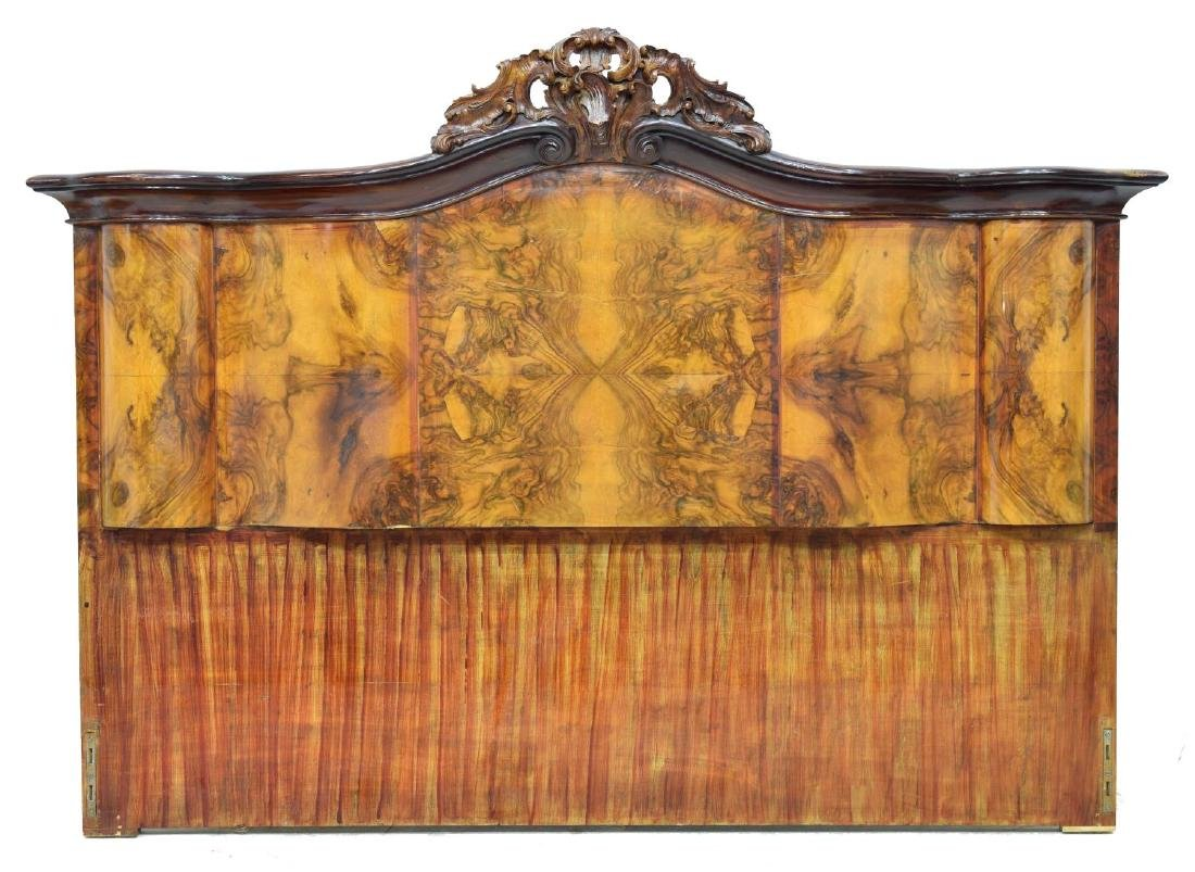 "VENETIAN BURLWOOD BED HEADBOARD, 71.5""W"