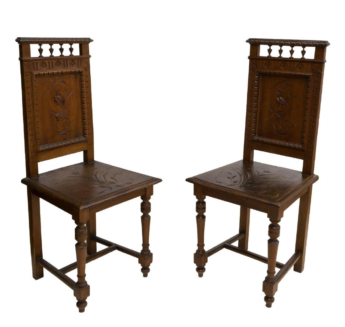 (2) RENAISSANCE REVIVAL GRIFFIN CARVED CHAIRS
