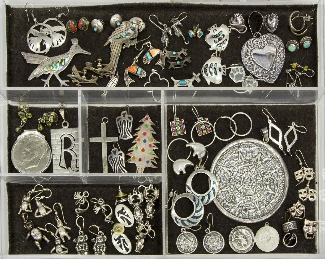 HUGE GROUP ESTATE MEXICO & OTHER STERLING JEWELRY