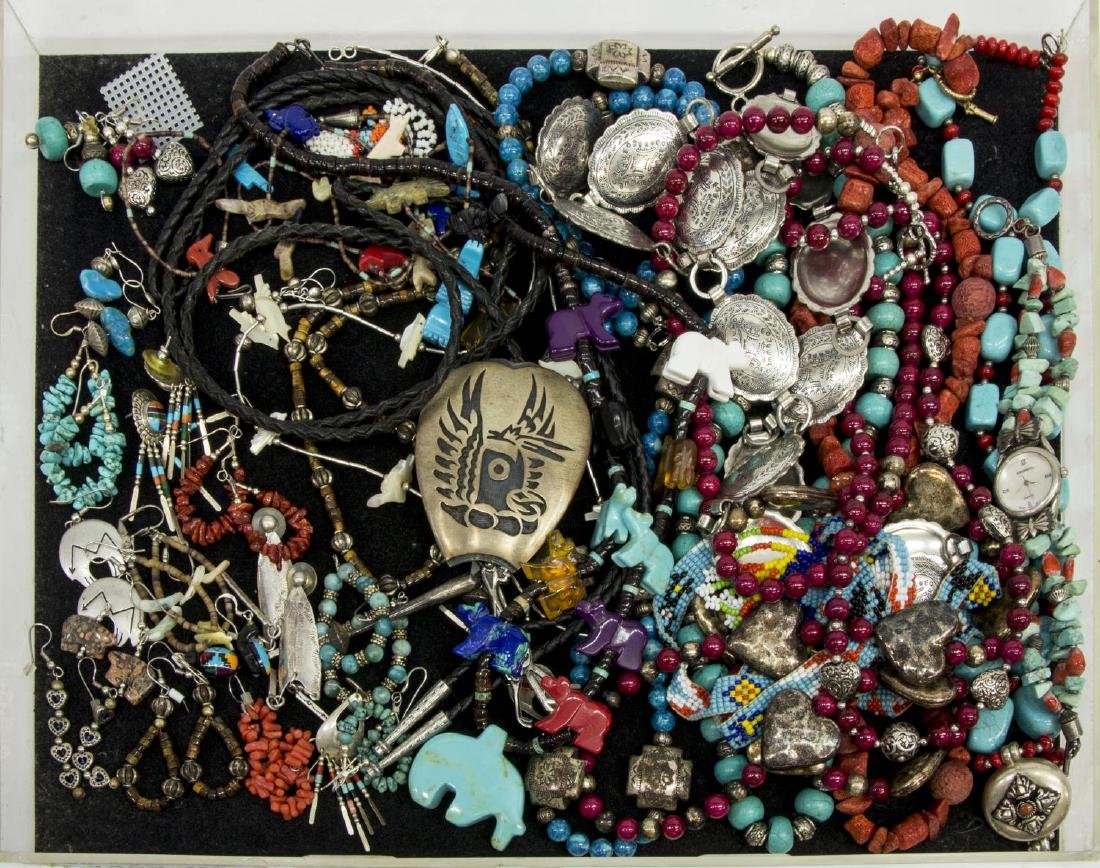 (LOT) COLLECTION OF SOUTHWEST STYLE JEWELRY
