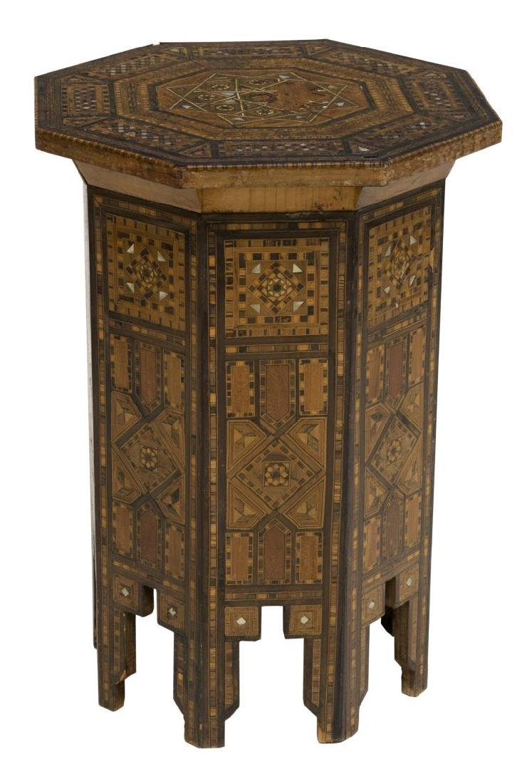 ARABESQUE MOTHER OF PEARL & PARQUETRY INLAY TABLE