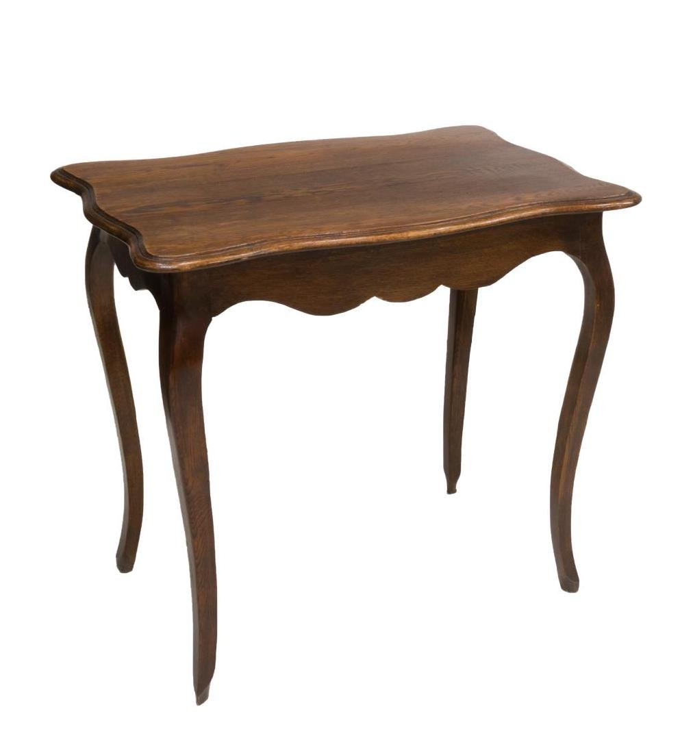 CONTINENTAL LOUIS XV STYLE OAK TABLE