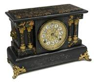 SETH THOMAS TIME-AND-STRICK FAUX MARBLE CLOCK