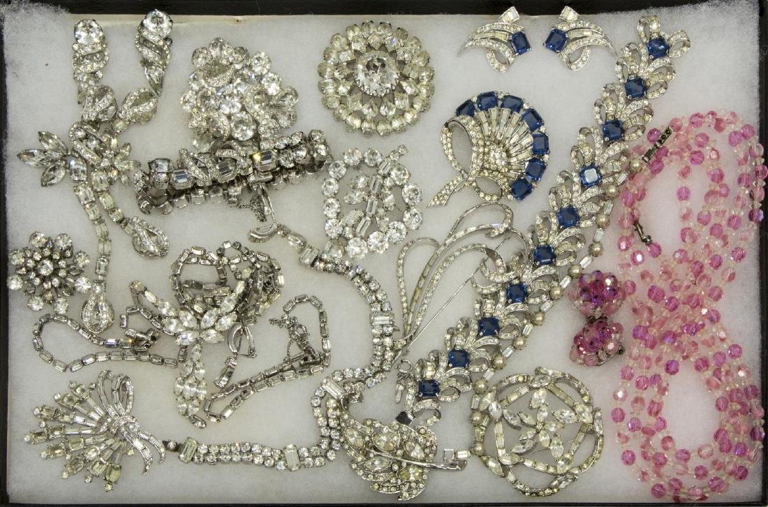 ESTATE COLLECTION RHINESTONE JEWELRY, EISENBERG
