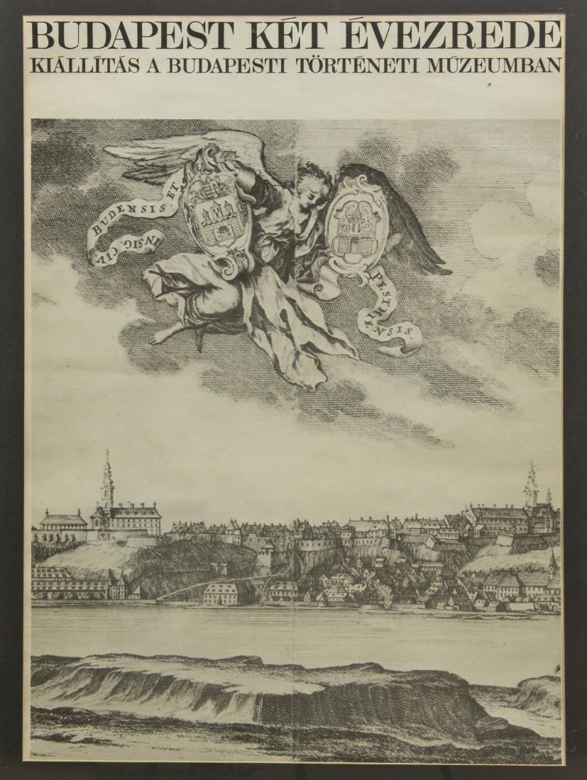 FRAMED POSTER, HISTORIC BUDAPEST EXHIBITION