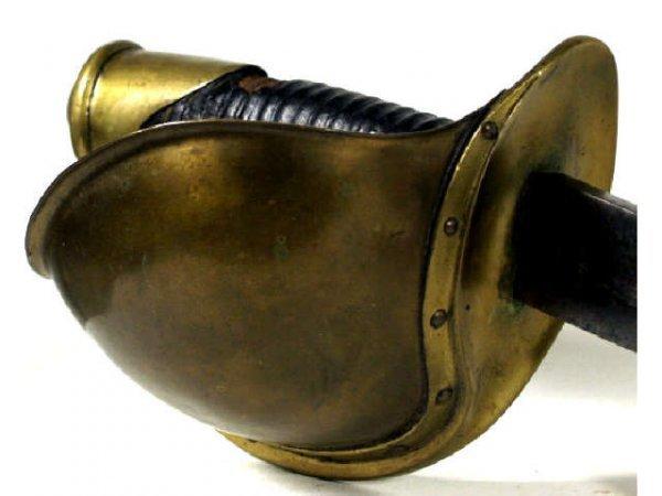 121: US NAVY CUTLASS SWORD AMES 1860 SCABBARD CIVIL WAR