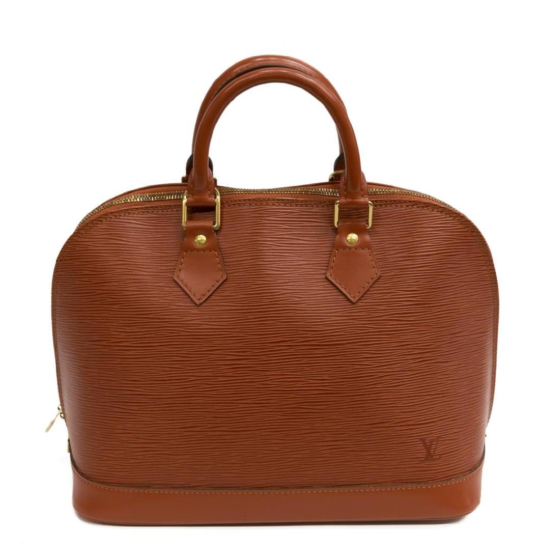 LOUIS VUITTON 'ALMA' FAWN EPI LEATHER HANDBAG