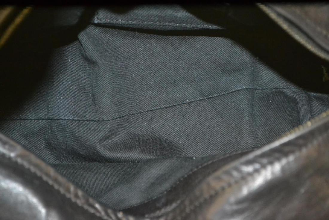 CHLOE 'SILVERADO' BLACK LEATHER TOTE BAG - 4