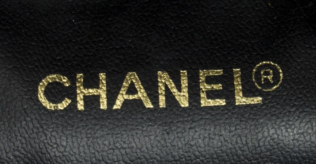 CHANEL BLACK QUILTED LEATHER VANITY COSMETIC CASE - 5