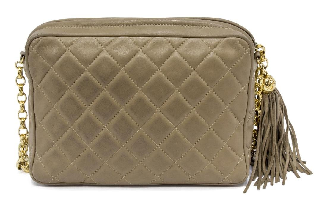 """CHANEL """"CAMERA"""" QUILTED LEATHER TASSEL BAG - 2"""