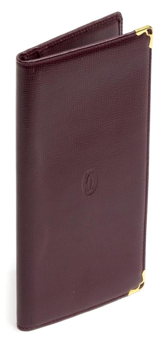 CARTIER BURGUNDY LEATHER LONG WALLET