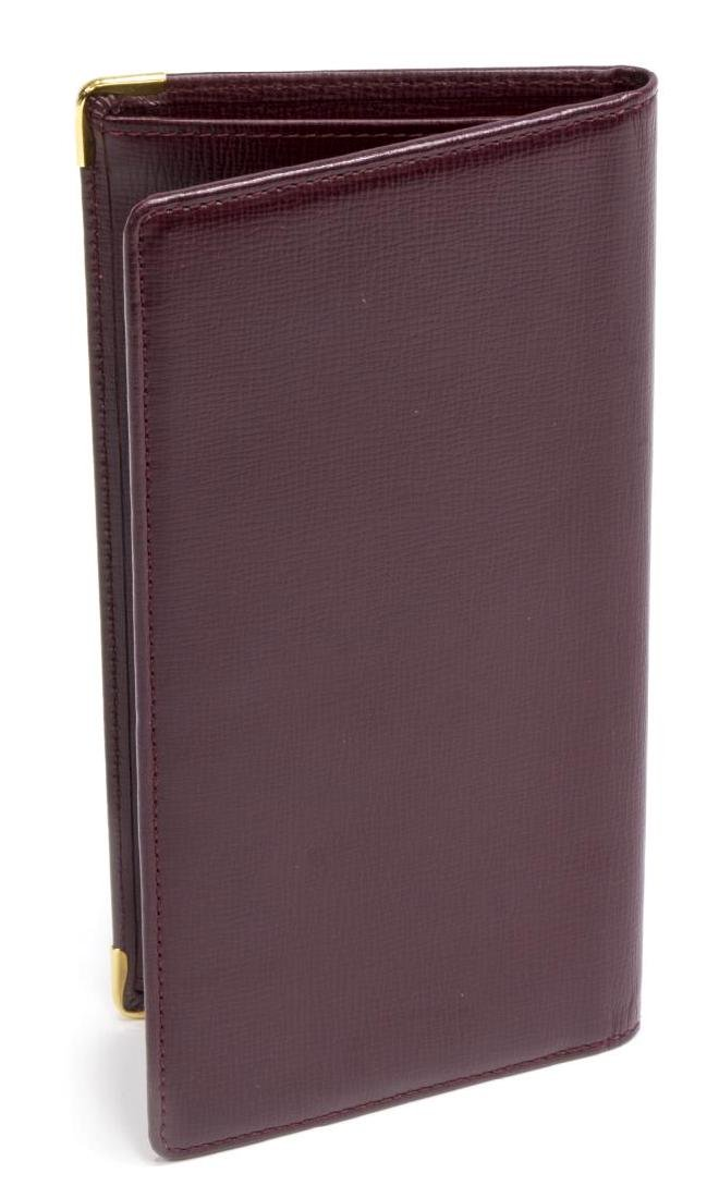 CARTIER BURGUNDY LEATHER LONG WALLET - 2