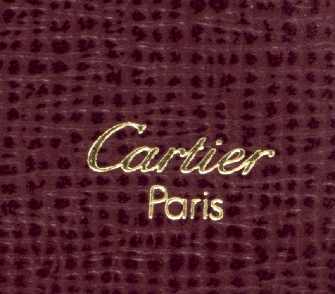 CARTIER BURGUNDY LEATHER LONG WALLET - 5