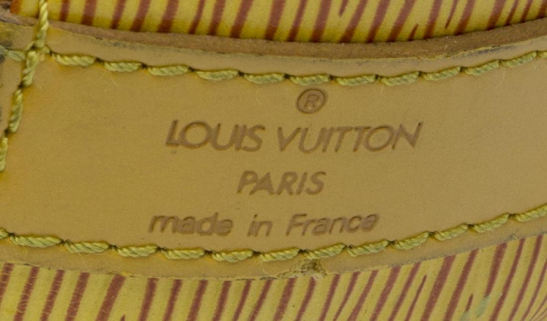 LOUIS VUITTON NOE PM YELLOW EPI LEATHER BUCKET BAG - 4