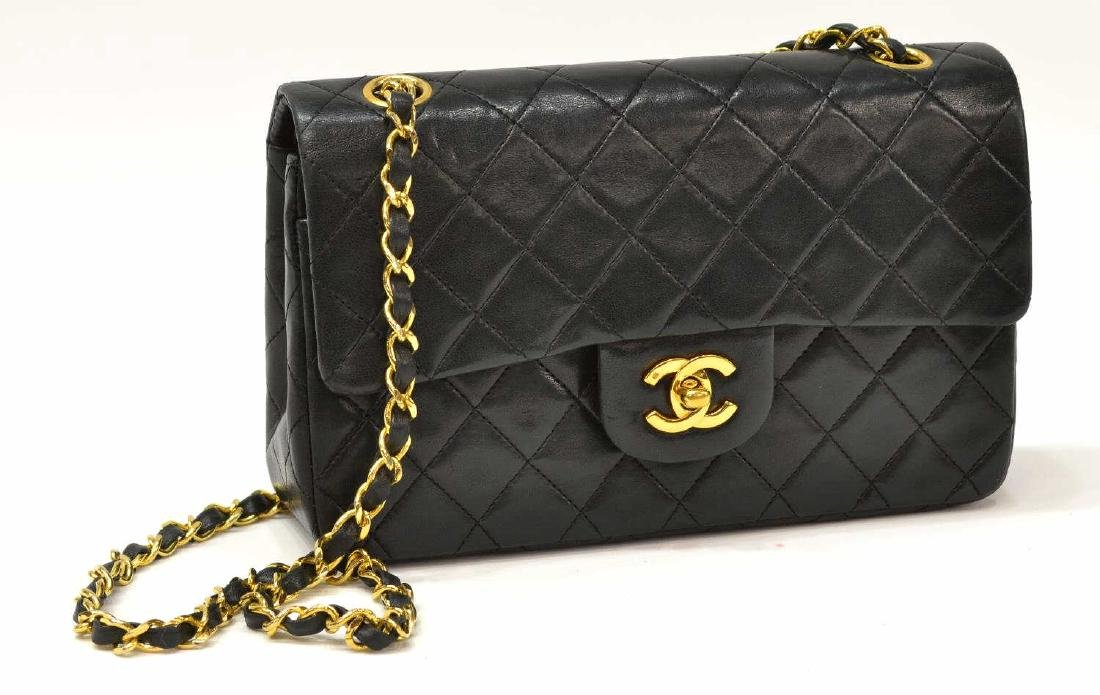 CHANEL CLASSIC DOUBLE FLAP QUILTED BLACK HANDBAG
