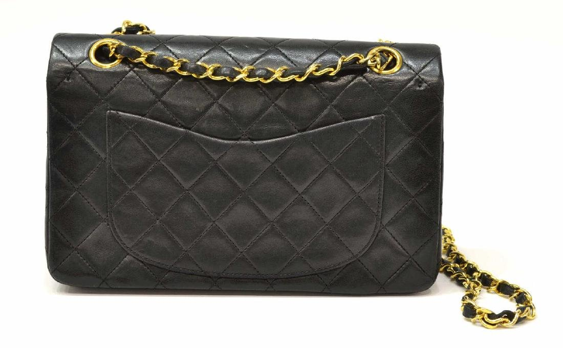 CHANEL CLASSIC DOUBLE FLAP QUILTED BLACK HANDBAG - 2