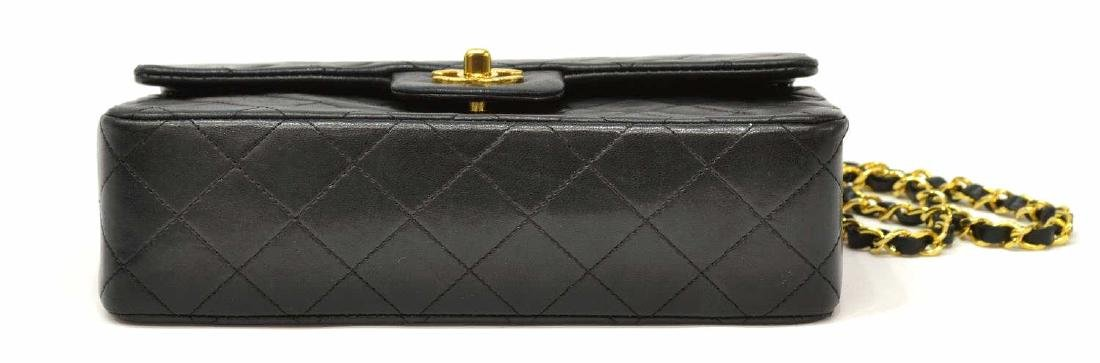 CHANEL CLASSIC DOUBLE FLAP QUILTED BLACK HANDBAG - 3
