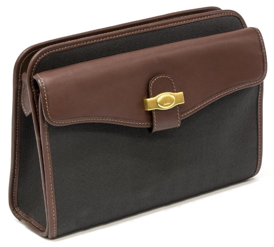 GENT'S ALFRED DUNHILL COATED CANVAS TOILETRY BAG
