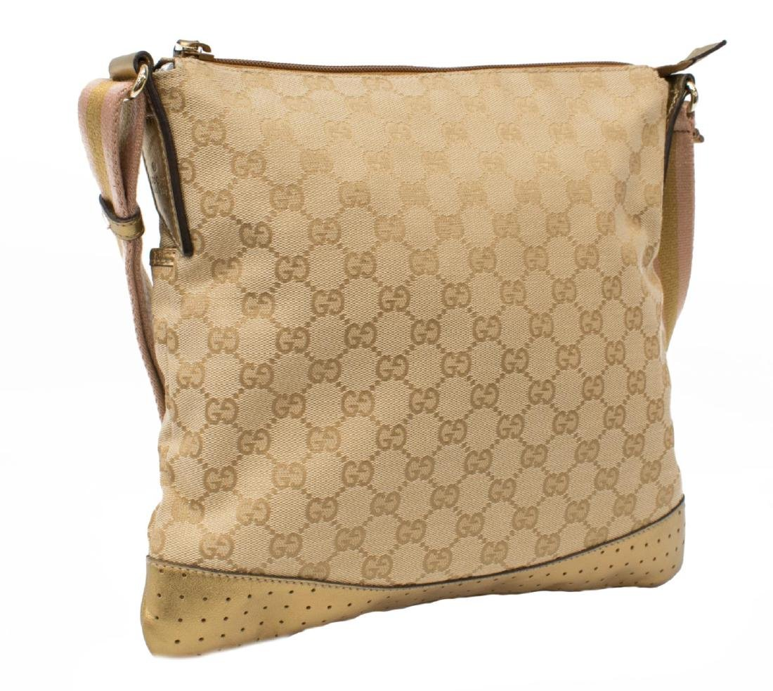GUCCI GG MONOGRAM CANVAS MESSENGER BAG - 2