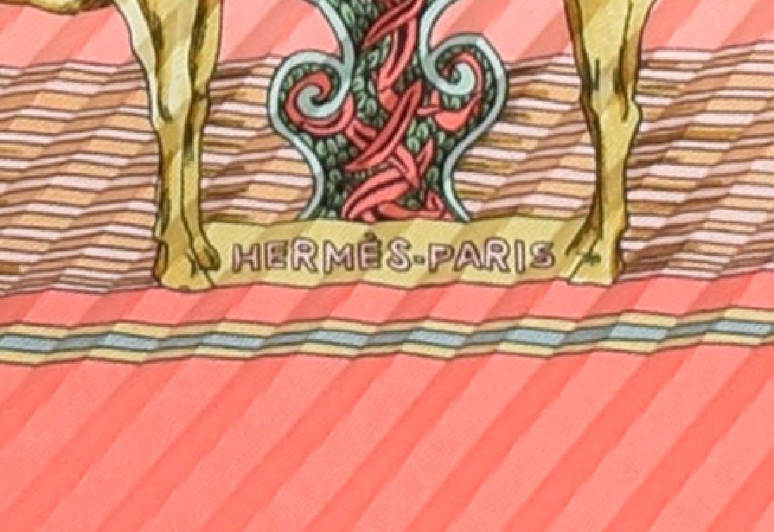 HERMES PLEATED SILK SCARF 'AU FIL DE LA SOIE' - 4