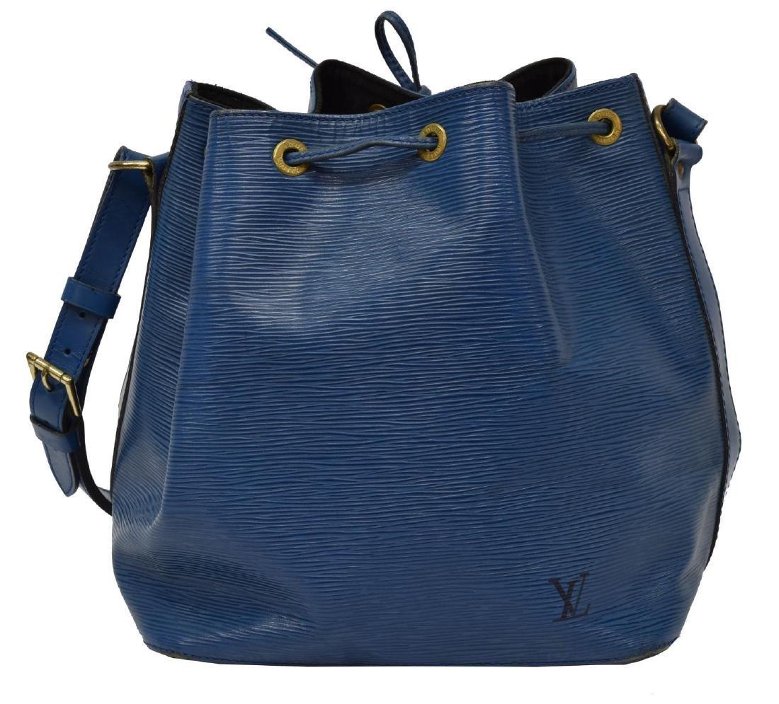 LOUIS VUITTON 'NOE' BLUE EPI LEATHER BUCKET BAG - 2
