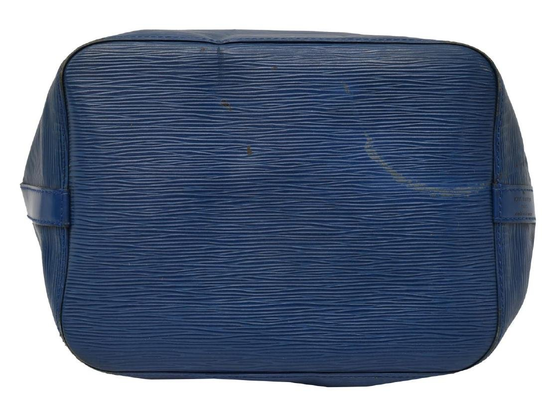 LOUIS VUITTON 'NOE' BLUE EPI LEATHER BUCKET BAG - 3