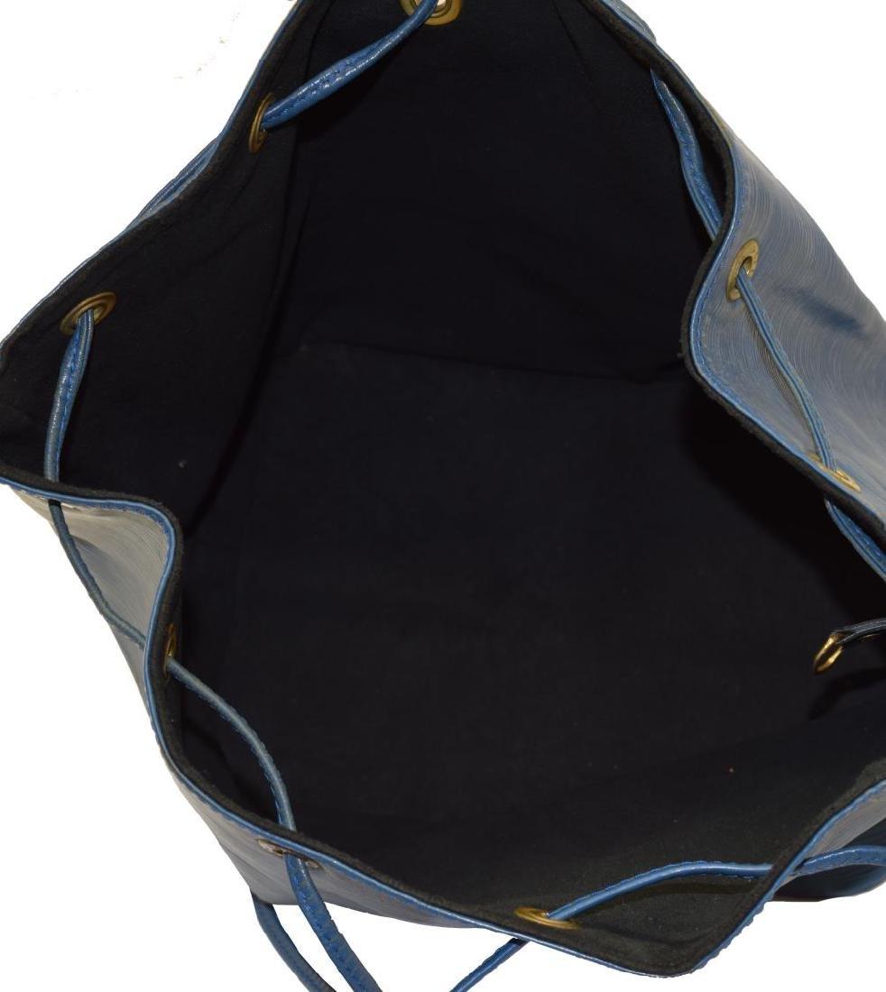 LOUIS VUITTON 'NOE' BLUE EPI LEATHER BUCKET BAG - 4