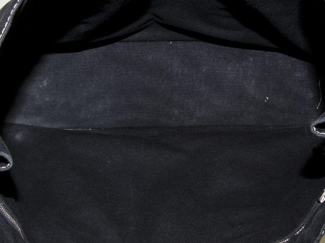 HERMES 'FOURRE TOUT' BLACK CANVAS TOTE BAG - 4