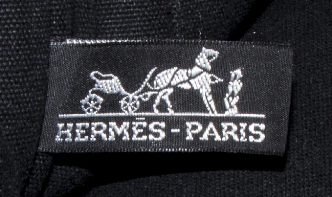 HERMES 'FOURRE TOUT' BLACK CANVAS TOTE BAG - 5