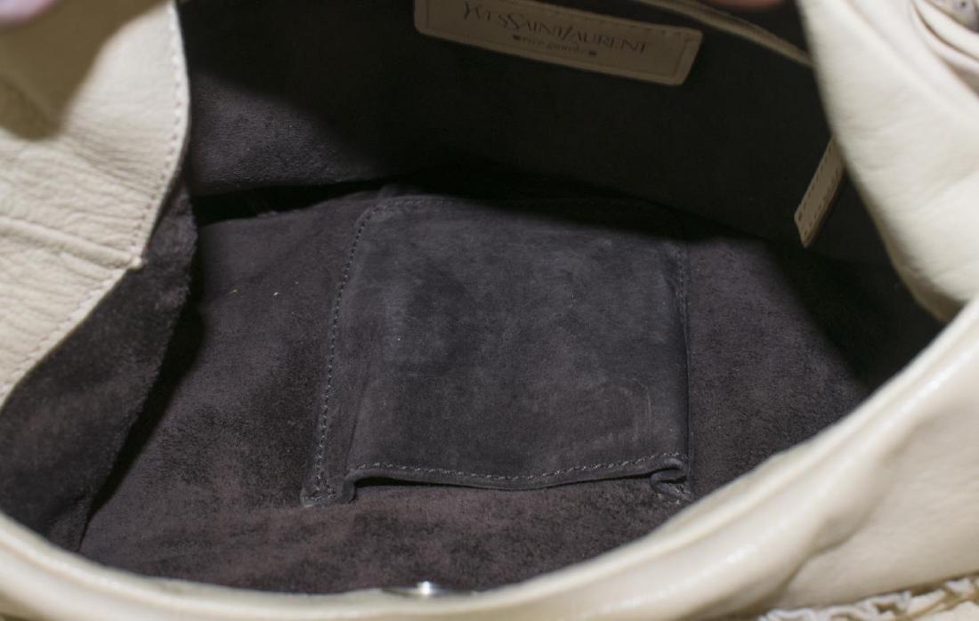 YVES SAINT LAURENT 'NADJA' LEATHER ROSE PETAL BAG - 4