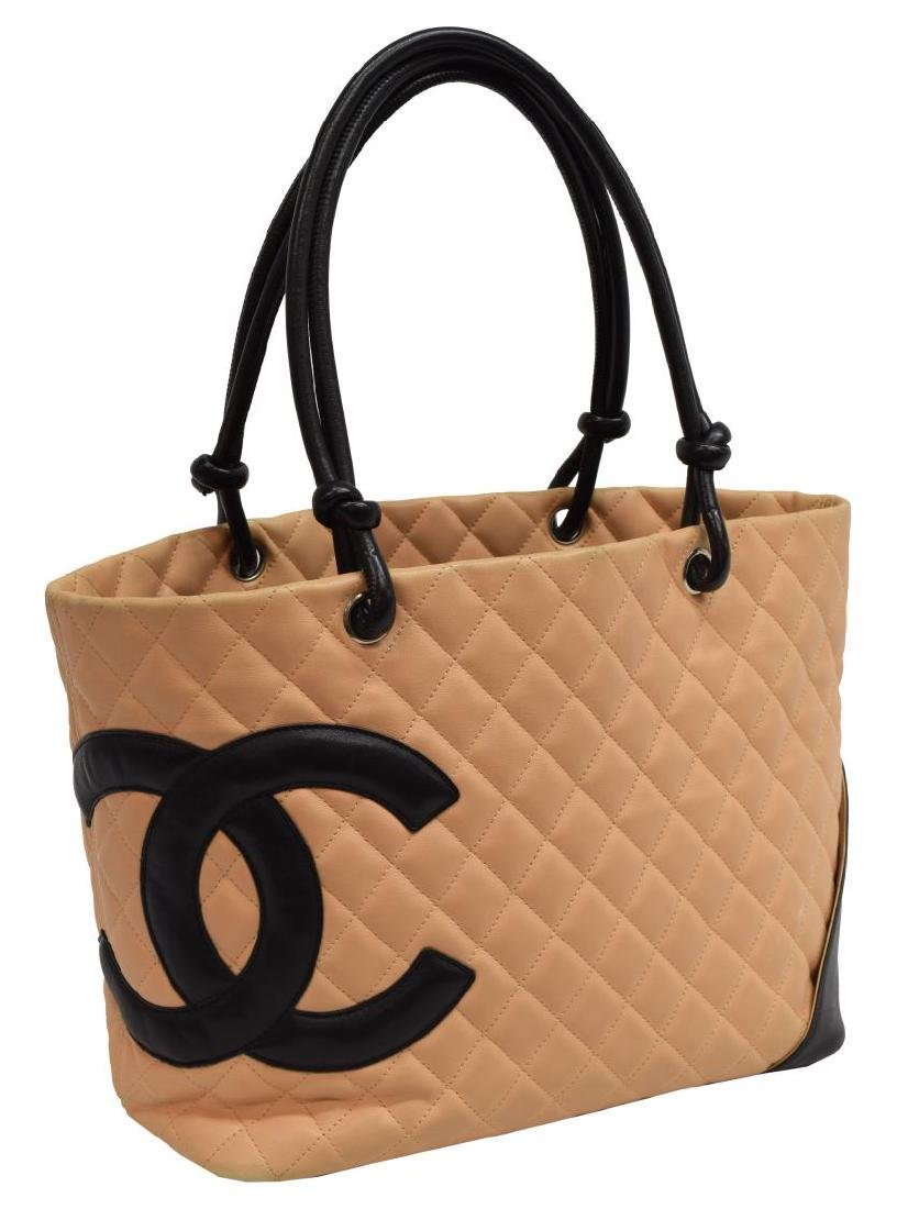 CHANEL QUILTED LEATHER CAMBON TOTE SHOULDER BAG
