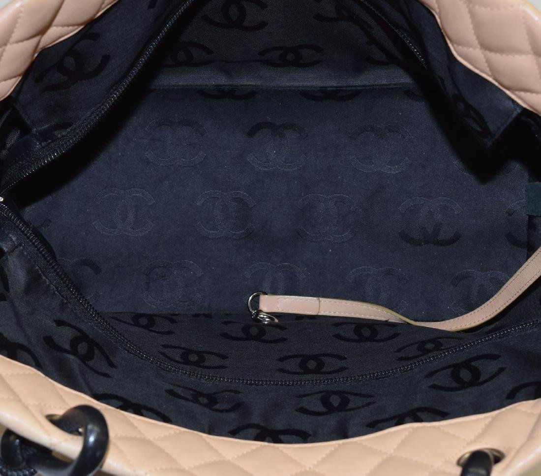CHANEL QUILTED LEATHER CAMBON TOTE SHOULDER BAG - 4
