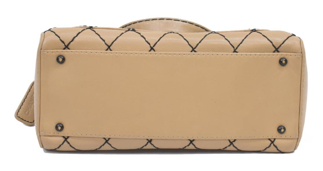 CHANEL WILD STITCH QUILTED LEATHER SATCHEL BAG - 3