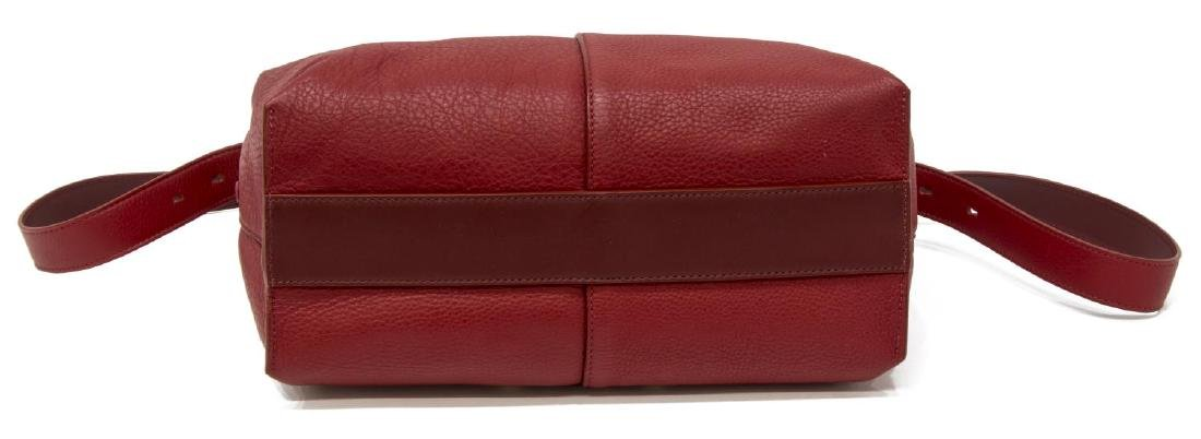 CHLOE RED GRAINED LEATHER CROSSBODY HANDBAG - 3