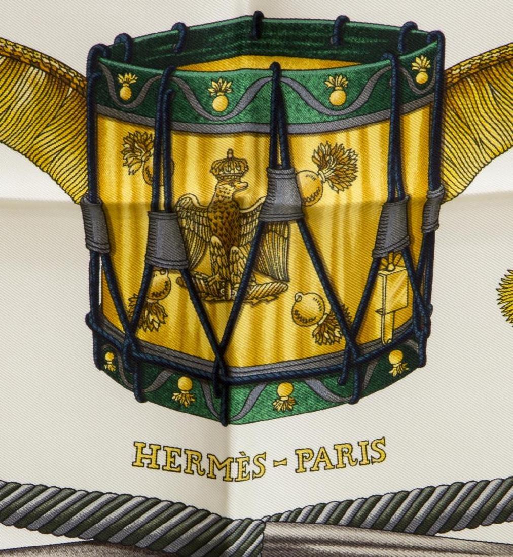 HERMES SILK SCARF, 'LES TAMBOURS' PATTERN - 2