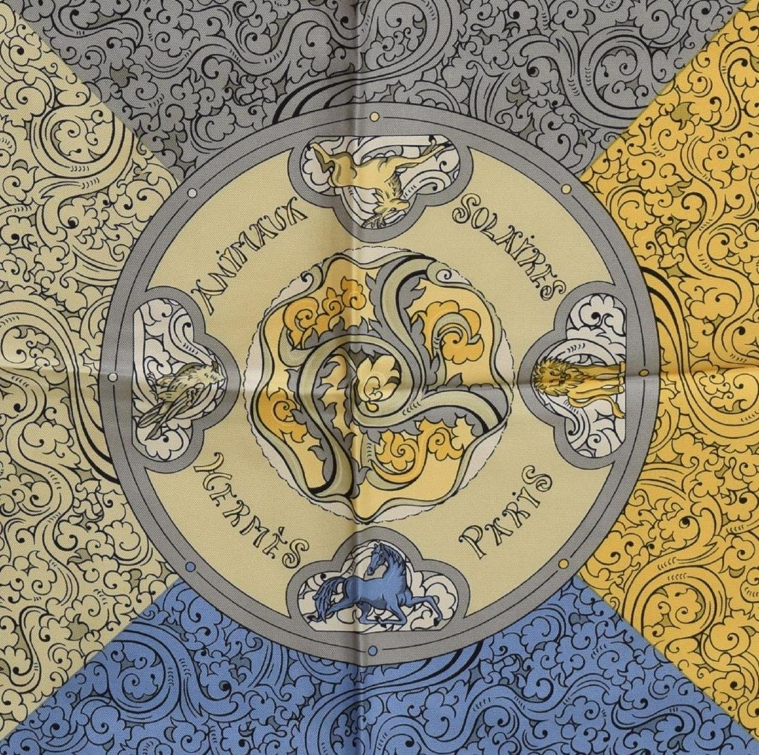HERMES SILK TWILL SCARF, 'ANIMAUX SOLAIRES' - 2