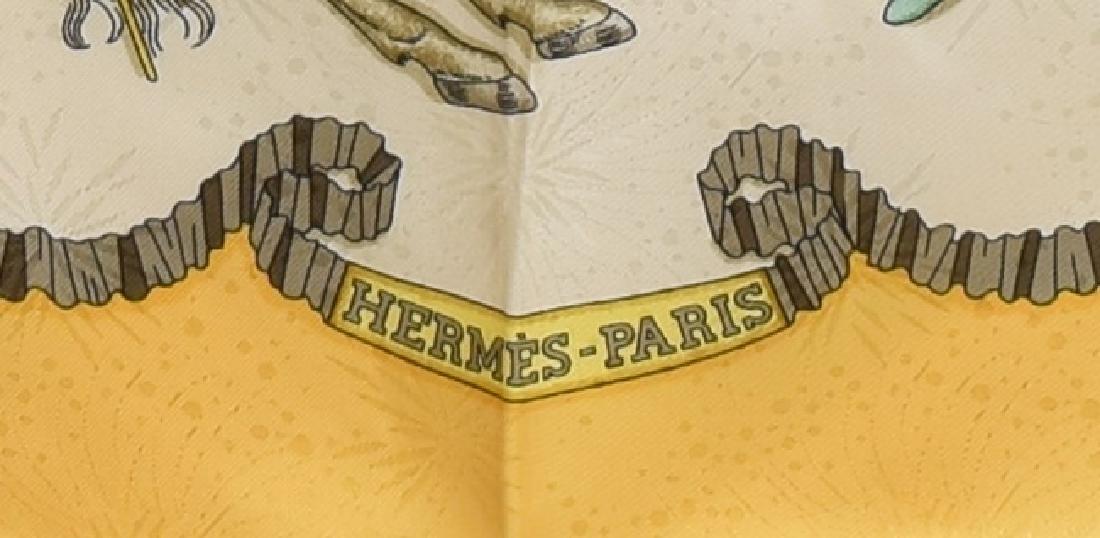 HERMES SILK TWILL SCARF, 'LES FETES DU ROI SOLEIL' - 3