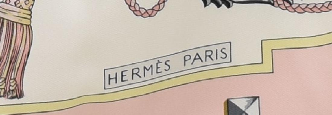 HERMES SILK TWILL SCARF, 'LES CLES' PATTERN - 2