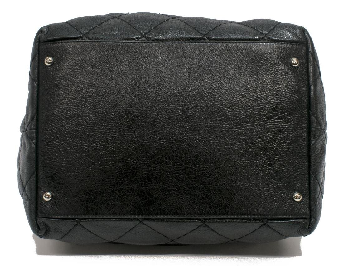 CHANEL QUILTED BLACK LEATHER DRAWSTRING BAG - 3