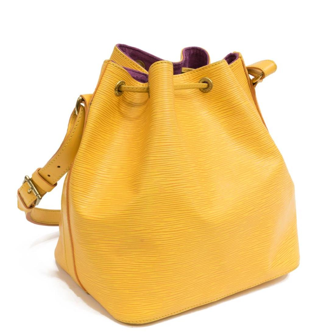 LOUIS VUITTON 'NOE' YELLOW EPI LEATHER BUCKET BAG