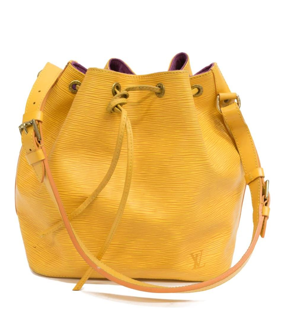 LOUIS VUITTON 'NOE' YELLOW EPI LEATHER BUCKET BAG - 2