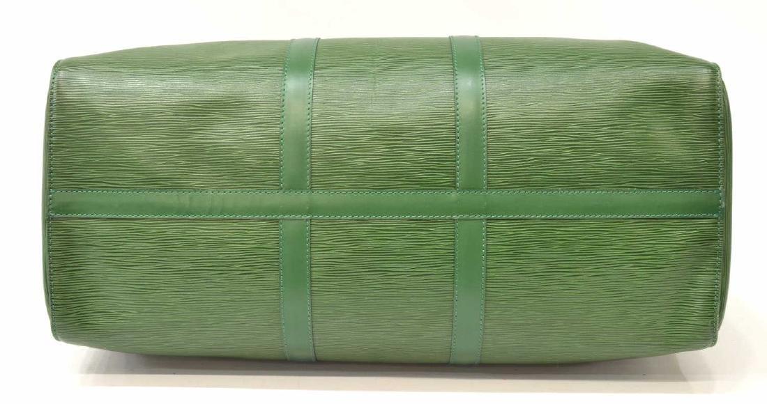 LOUIS VUITTON 'KEEPALL 50' GREEN EPI DUFFLE BAG - 3