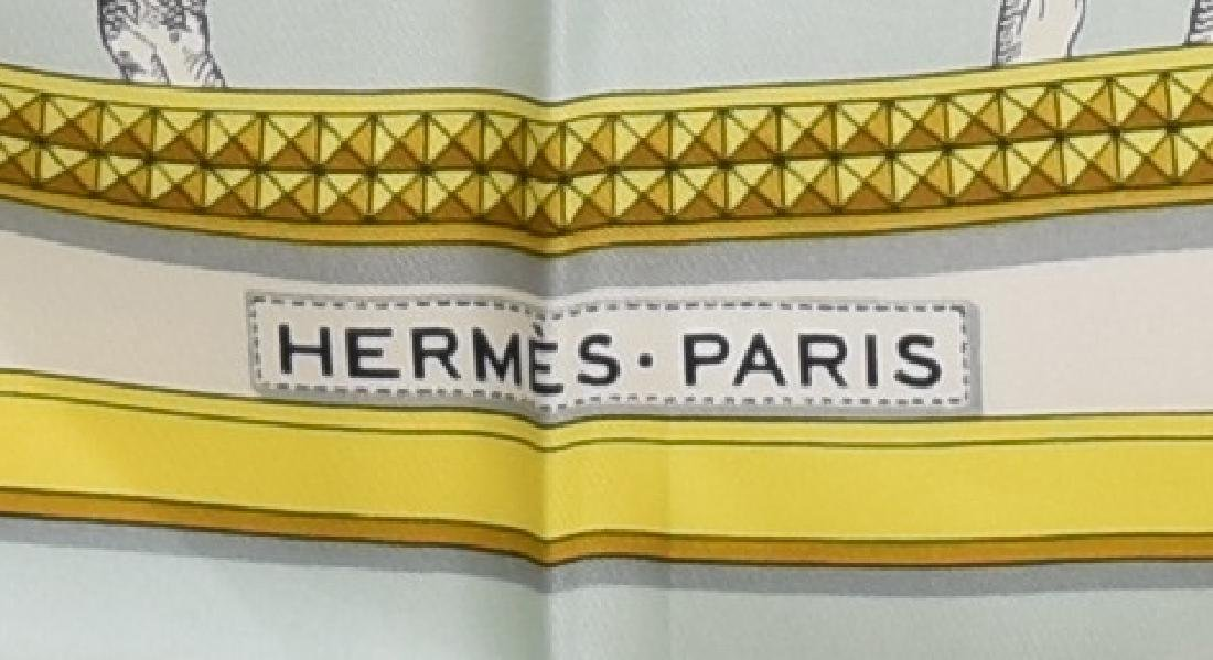 HERMES SILK TWILL SCARF, 'GRAND APPARAT' PATTERN - 3