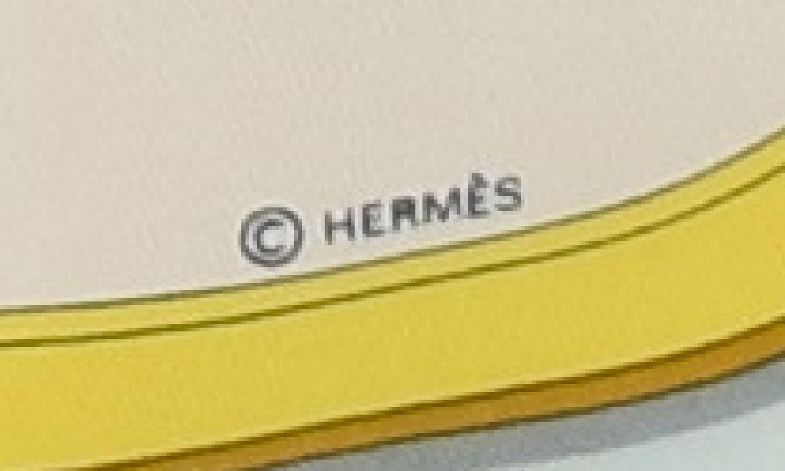 HERMES SILK TWILL SCARF, 'GRAND APPARAT' PATTERN - 4