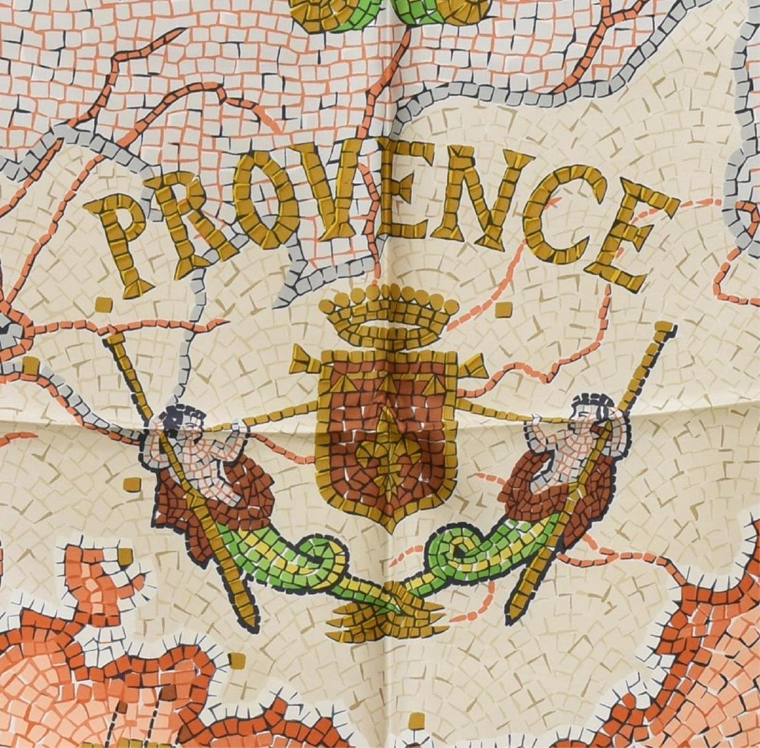 HERMES SILK TWILL SCARF, 'PROVENCE' PATTERN - 2
